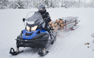 Снежный путь: чем хорош мини-снегоход?