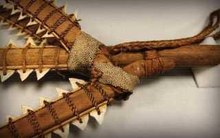 Необычное оружие: Традиционное оружие из акульих зубов