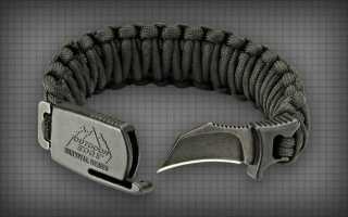 Para-Claw: тактический нож-браслет из паракорда