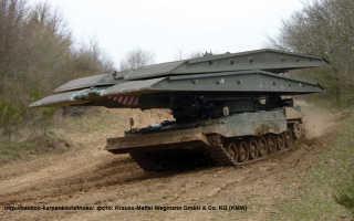 Танковый мостоукладчик Panzerschnellbrücke «Leguan» (Германия)
