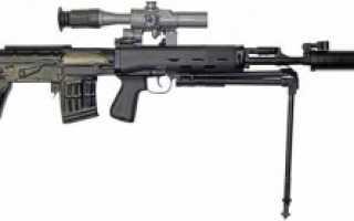 Снайперская винтовка Драгунова СВУ / ОЦ-03 (Россия)