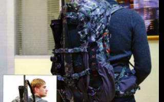 Крепление снаряжения на рюкзаке с помощью карабина
